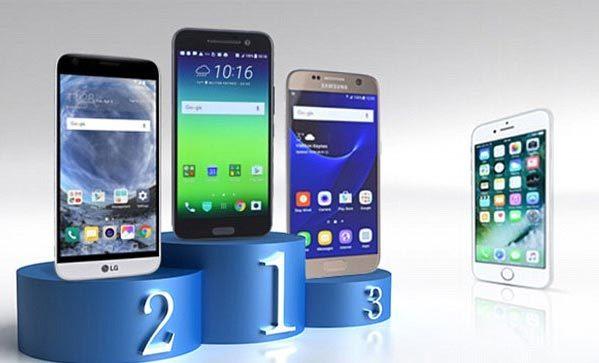 iPhone 7, Samsung Galaxy Samsung Galaxy S7, HTC 10, LG G5, thời lượng pin