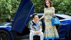 """Siêu xe Lamborghini Aventador SV chỉ làm nền cho Minh """"Nhựa"""" tạo dáng bên vợ"""