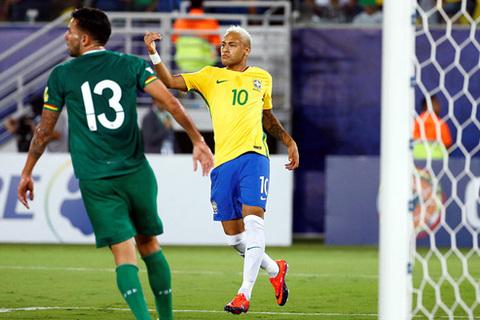 Brazil vùi dập Bolivia 5-0