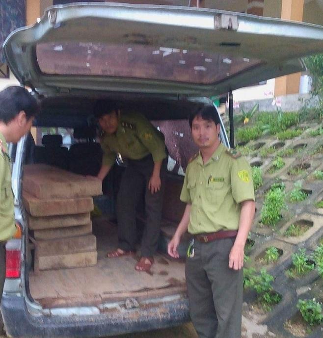 xe biển xanh, xe biển xanh chở gỗ lậu, kiểm lâm bắn cảnh cáo, Quảng Bình