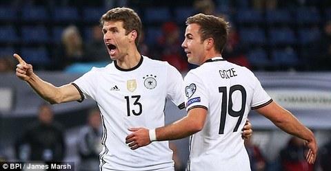 Video bàn thắng Đức 3-0 CH Czech