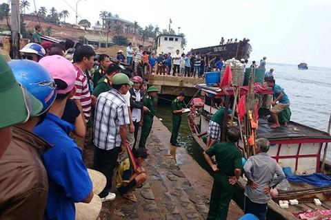 Chìm tàu ở Quảng Trị