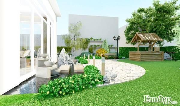 biệt thự xanh, kiến trúc xanh, thiết kế sân vườn độc đáo