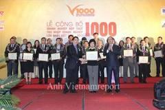 Công bố V1000: 1.000 DN nộp thuế lớn nhất Việt Nam 2016