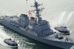 Tàu khu trục Mỹ lại bị tên lửa tấn công