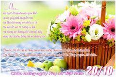 Thiệp chúc mừng bằng hình ảnh ngày 20-10 chị em rất thích