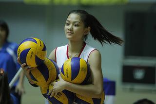 Ngắm vẻ đẹp cực cute của VĐV bóng chuyền Thu Hoài