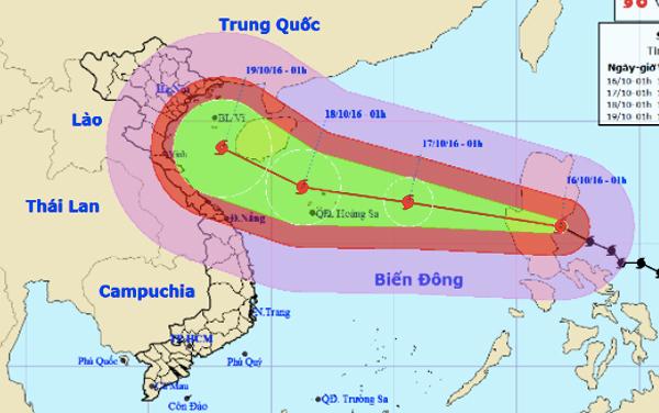 bão số 7, bão sarika, tin bão, cơn bão số 7, bão Sơn Tinh