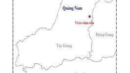 Xuất hiện động đất ở miền núi Quảng Nam