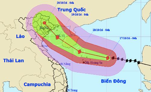 Bão giật cấp 17 tiến thẳng Quảng Ninh - Nam Định