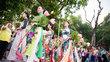 HH Ngọc Hân cùng dàn người đẹp diễu hành trên phố Hà Nội