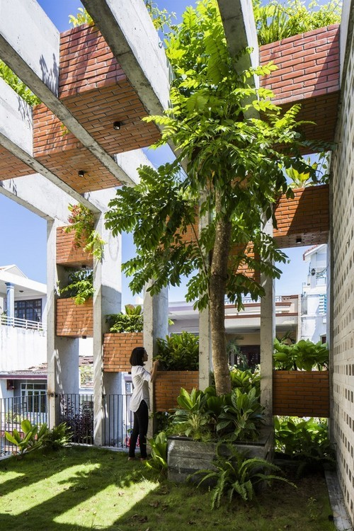 nhà đẹp Đà Nẵng, nhà đẹp như resort ở Đà Nẵng, ngôi nhà xanh