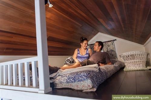 thiết kế nhà nhỏ, trang trí cho nhà nhỏ, nhà nhỏ 17m2 cho cặp vợ chồng trẻ