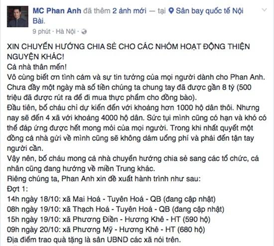 MC Phan Anh thu tiền tỷ, nghi án Thủy Tiên mang bầu lần 2