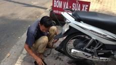 Thủ đoạn phá xe, lột tiền của thợ sửa xe máy
