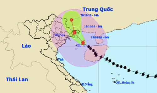 Bão số 7 vào Quảng Ninh, Hà Nội đề phòng gió giật