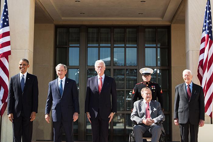 Bầu cử Tổng thống Mỹ 2016, Donald Trump, Hillary Clinton, George Bush, Bill Clinton, Barack Obama, Jimmy Carter