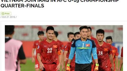 """AFC: """"U19 Việt Nam mạnh mẽ và máu lửa"""""""