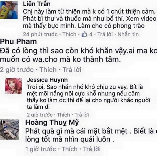 Thủy Tiên bị chỉ trích vì tường thuật trực tiếp khi đi từ thiện