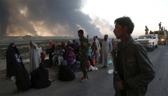IS, lá chắn sống, mồ tập thể, Mosul, Iraq, chiến dịch, tấn công