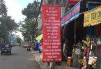 Cấm đường ở bến xe 'lậu' Thành Bưởi