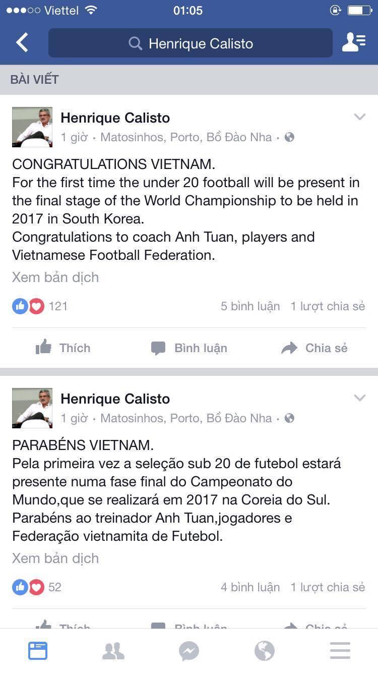 HLV Calisto cũng phát sốt với U19 Việt Nam
