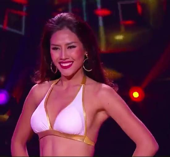 Nguyễn Thị Loan khoe hình thể bốc lửa 'đọ' 79 Hoa hậu
