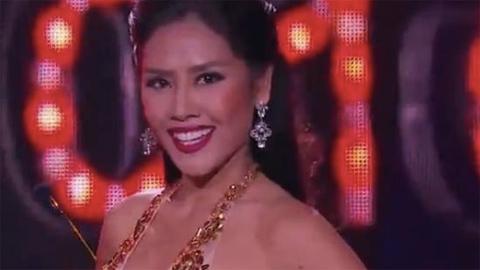 Nguyễn Thị Loan khoe hình thể đồng hồ cát tại Hoa hậu Hòa bình Thế giới