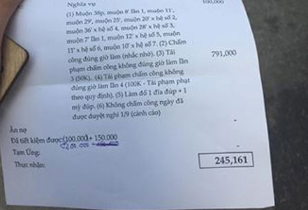 Quần quật làm 27 ngày, nam thanh niên nhận 245 nghìn đồng