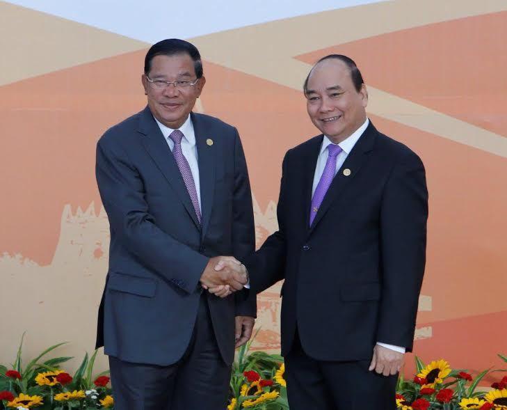 Campuchia, hội nghị cấp cao ACMECS 7, CLMV 8, WEF-Mekong, Thủ tướng Nguyễn Xuân Phúc, Thủ tướng Campuchia Hun Sen