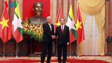 Chủ tịch nước hội đàm với Tổng thống Myanmar