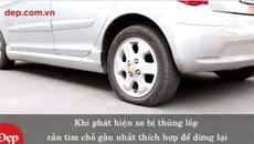 Cách thay lốp ô tô cực nhanh trong 5 phút