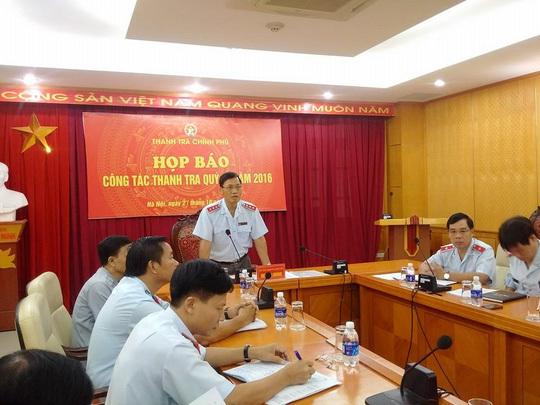 Thanh tra Chính phủ, Bộ Công Thương, Vũ Huy Hoàng, PVC, Vinacomin