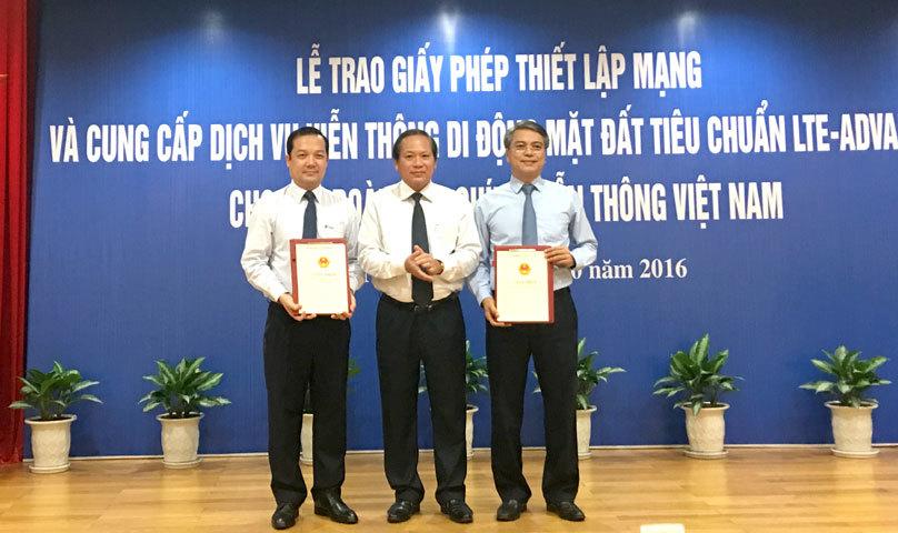 Bộ TT&TT chính thức trao giấy phép 4G cho VNPT