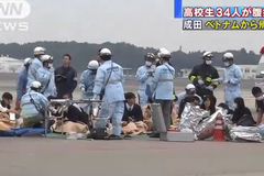 Bay về từ VN nhóm khách Nhật phải cấp cứu tại sân bay