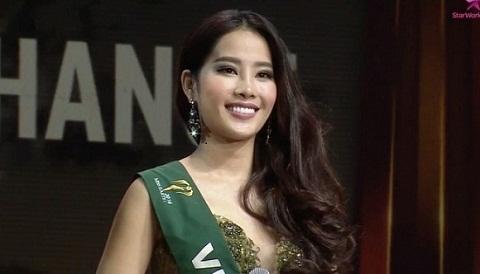 Nam Em hùng biện tại chung kết Miss Earth 2016