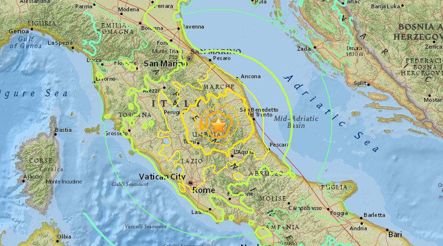 Động đất mạnh 7,1 độ tấn công Italia