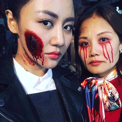 Phát hoảng khi MC Kỳ Duyên, BTV Quang Minh hóa trang Halloween