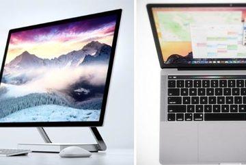 MacBook Pro so găng với Surface Studio, mẫu PC nào gây chú ý hơn?