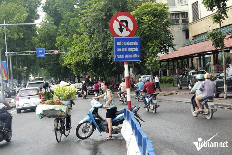 giao thông hà nội, AN TOÀN GIAO THÔNG, ATGT, GIAO THÔNG HÀ NỘI, lao vào đường cấm