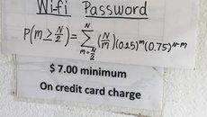Cửa hàng bắt khách giải bài toán này mới có mật khẩu wifi