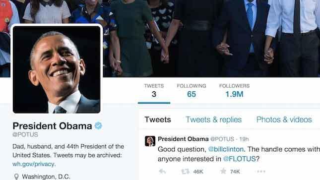 Khi Obama rời Nhà Trắng, Twitter của ông sẽ ra sao?