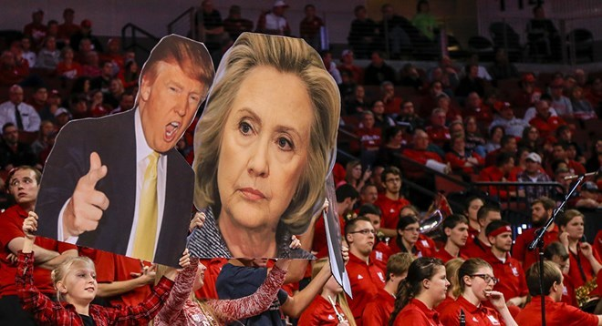 Đảng Dân chủ, Đảng Cộng hòa, Donald Trump, Hillary Clinton, Tổng thống Mỹ