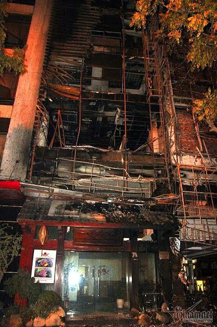cháy lớn ở trần thái tông, cháy quán karaoke