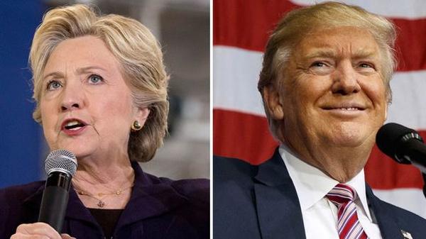 Trump bứt phá, bất ngờ dẫn trước Hillary