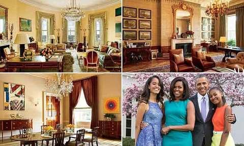 Obama lần đầu tiết lộ không gian riêng trong Nhà Trắng
