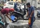 Xe SH bốc cháy trên đường phố Sài Gòn