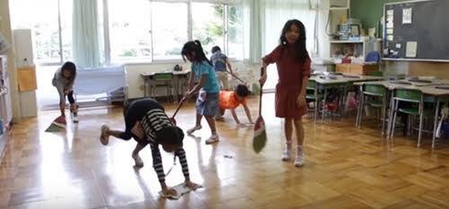 Nhật Bản, trường học ở Nhật Bản, không có lao công ở trường học
