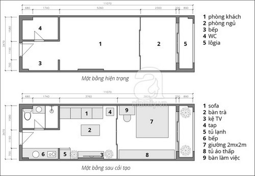Bố trí nội thất căn hộ 38m² ở Sài Gòn cho gia đình 3 người với chi phí chưa đến 100 triệu