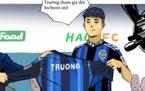 Tuyển thủ Lương Xuân Trường bất ngờ xuất hiện trên truyện tranh trực tuyến của Hàn Quốc